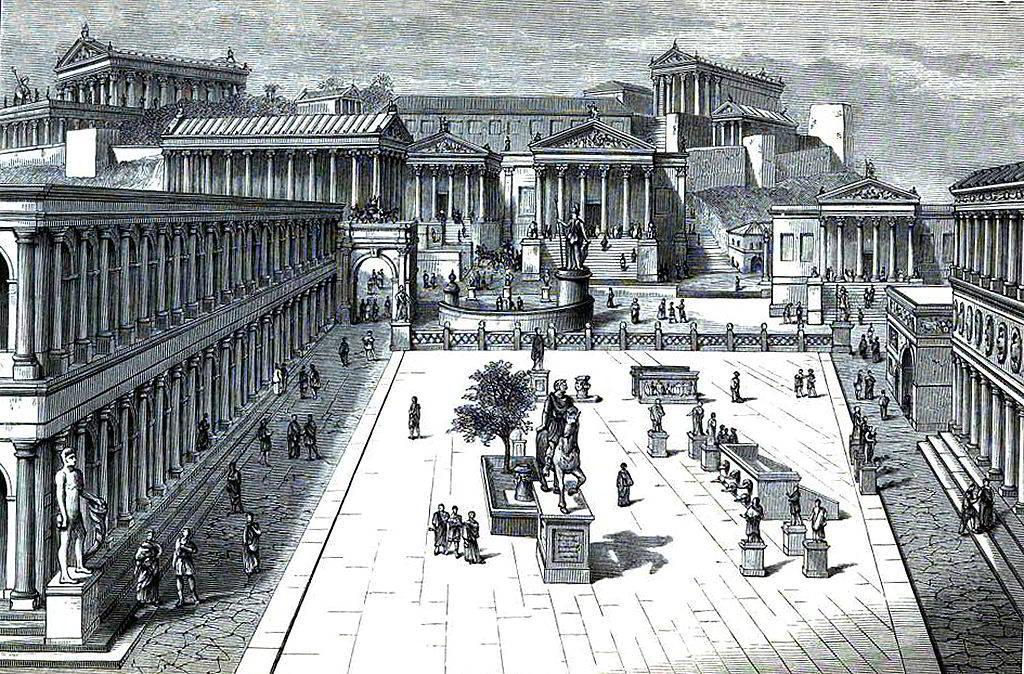Foro-Romano-epoca-di-Gaio-Giulio-Cesare