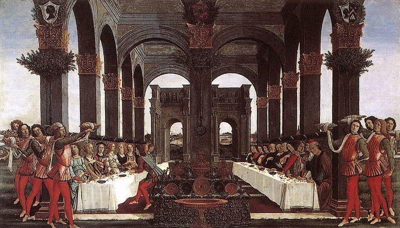 Botticelli-banchetto