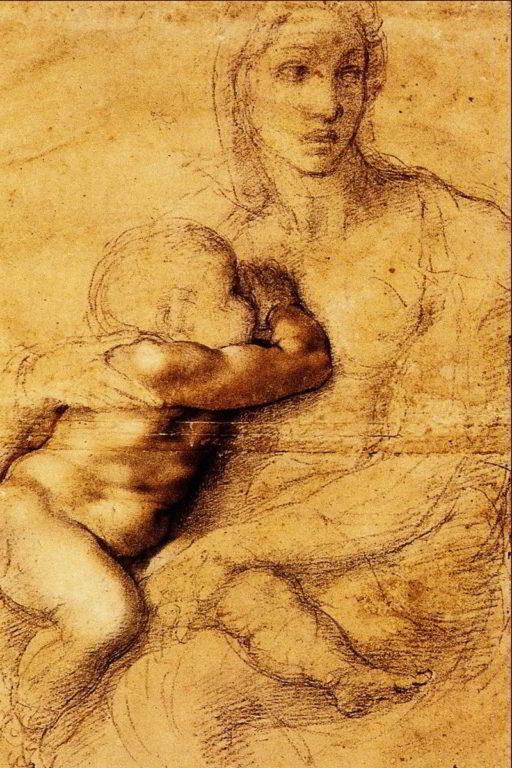 La-Madonna-che-allatta-il-figlio-Michelangelo-casa-Buonarroti