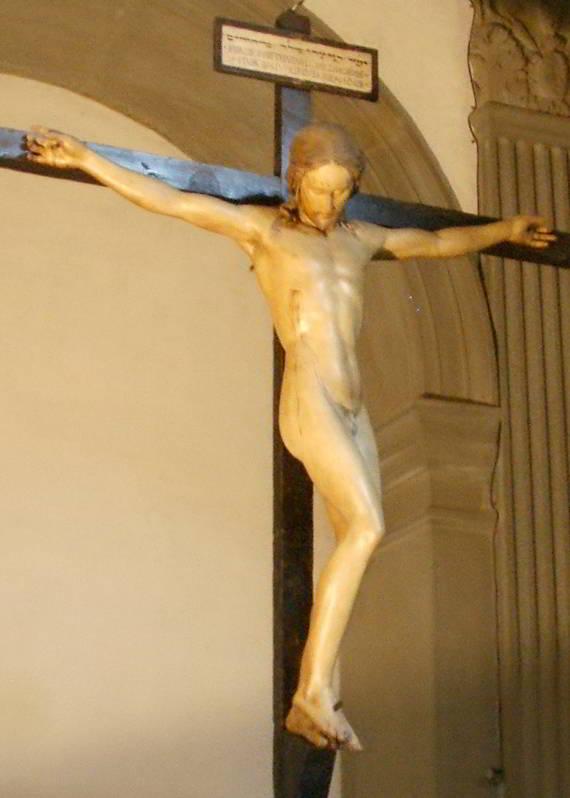 Santo-Spirito-sagrestia-crocifisso-di-Michelangelo