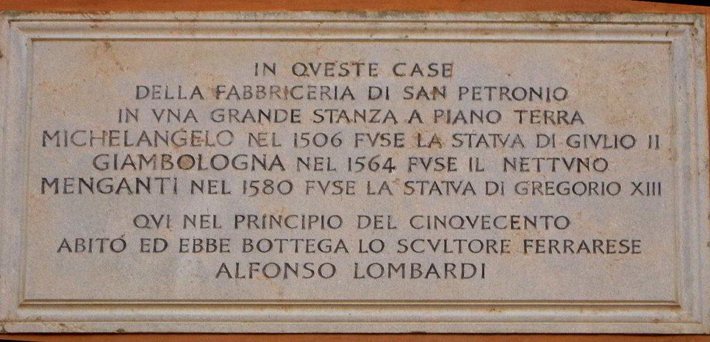 Bologna-targa-piazza-galvani-Michelangelo