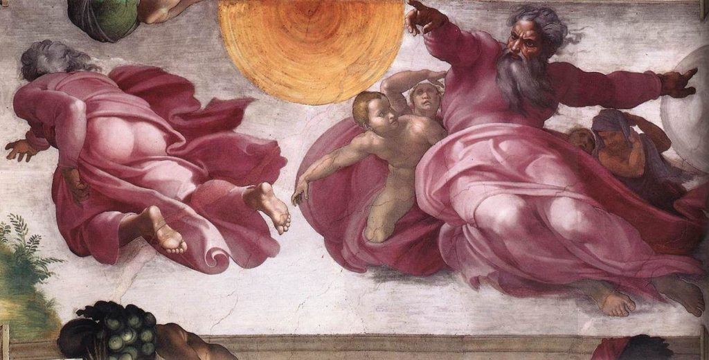 Creazione-degli-astri-e-delle-piante-Michelangelo