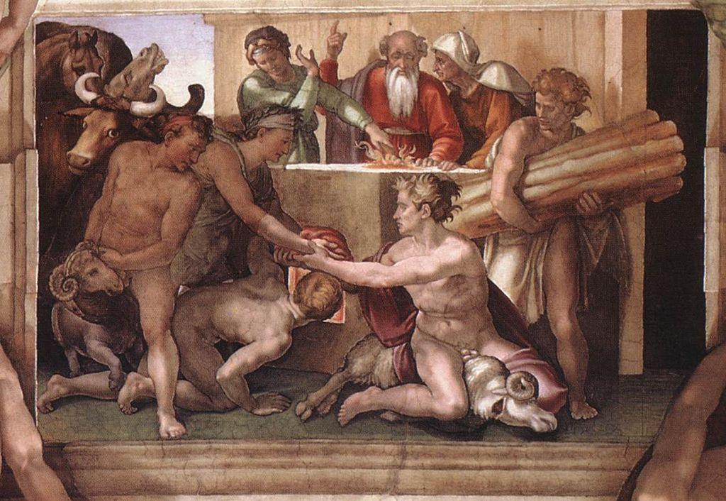 Il-Sacrificio-di-Noè-Michelangelo