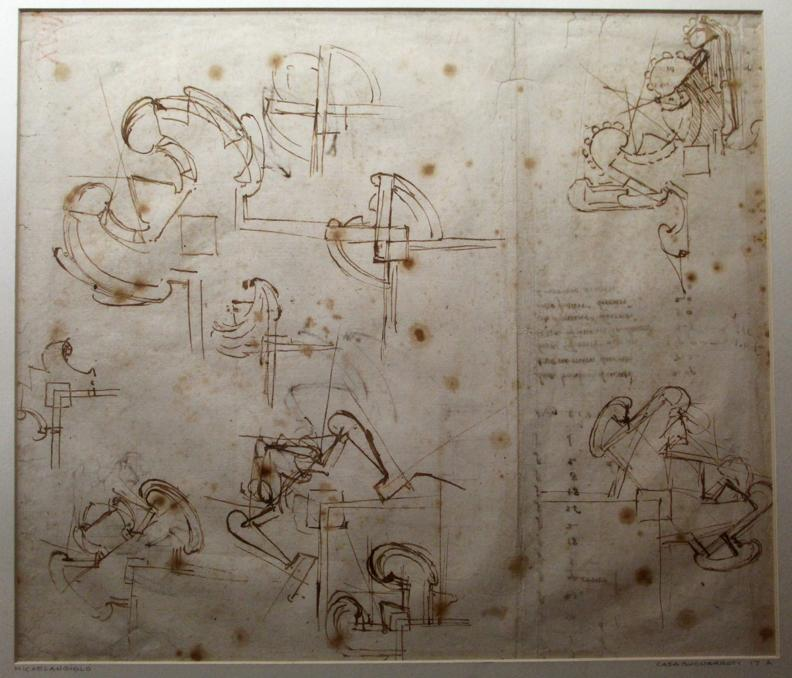 Michelangelo-studio-per-le-fortificazioni-di-Firenze-1528-29