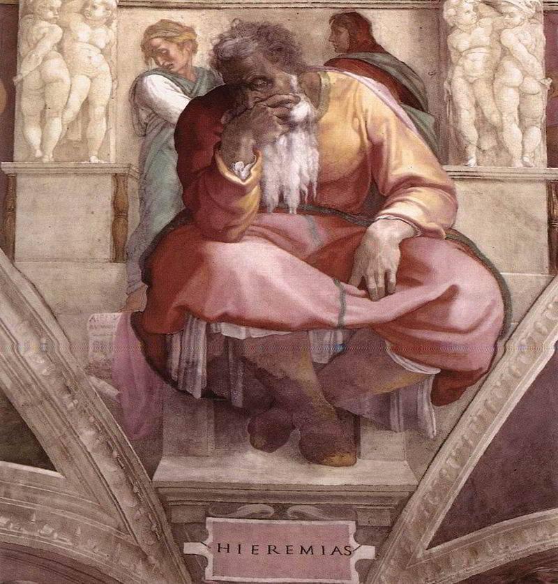 Profeta-Geremia-Michelangelo