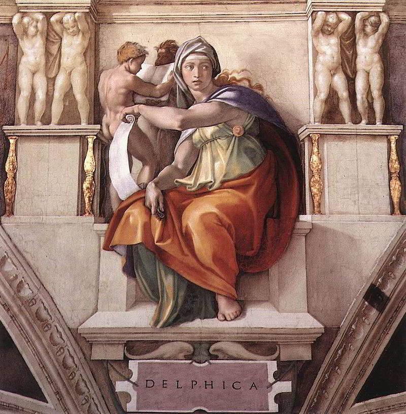 Sibilla-Delfica-Michelangelo