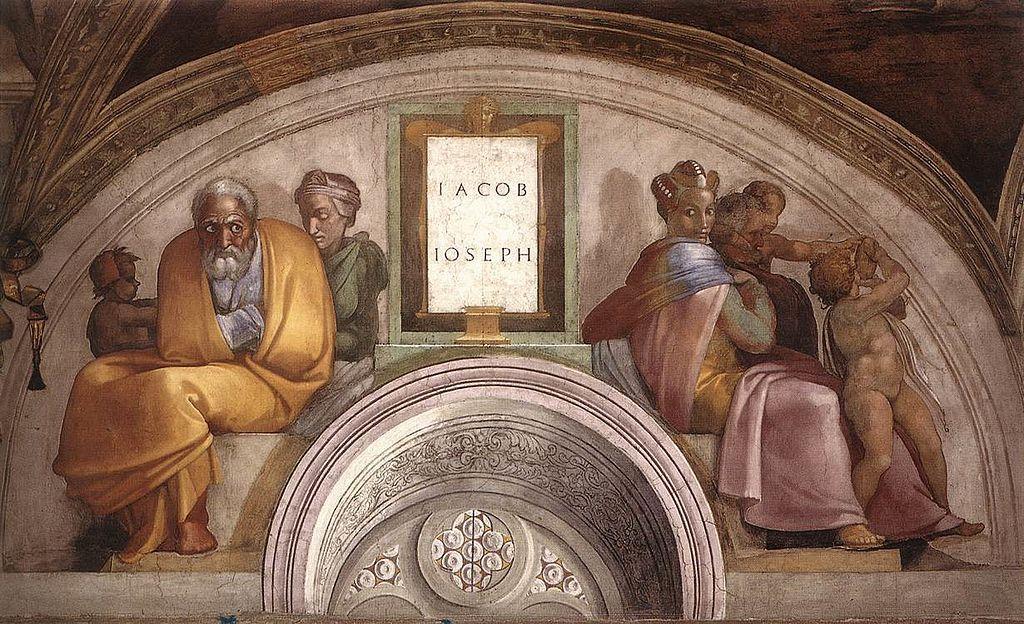 La-lunetta-di-Giacobbe-e-Giuseppe-Michelangelo
