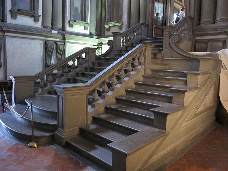 Biblioteca-laurenziana-vestibolo-scalinata-Michelangelo