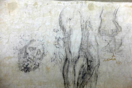 Disegni-di-Michelangelo-nel-sotterraneo-della-Sagrestia-Nuova-di-San-Lorenzo-23