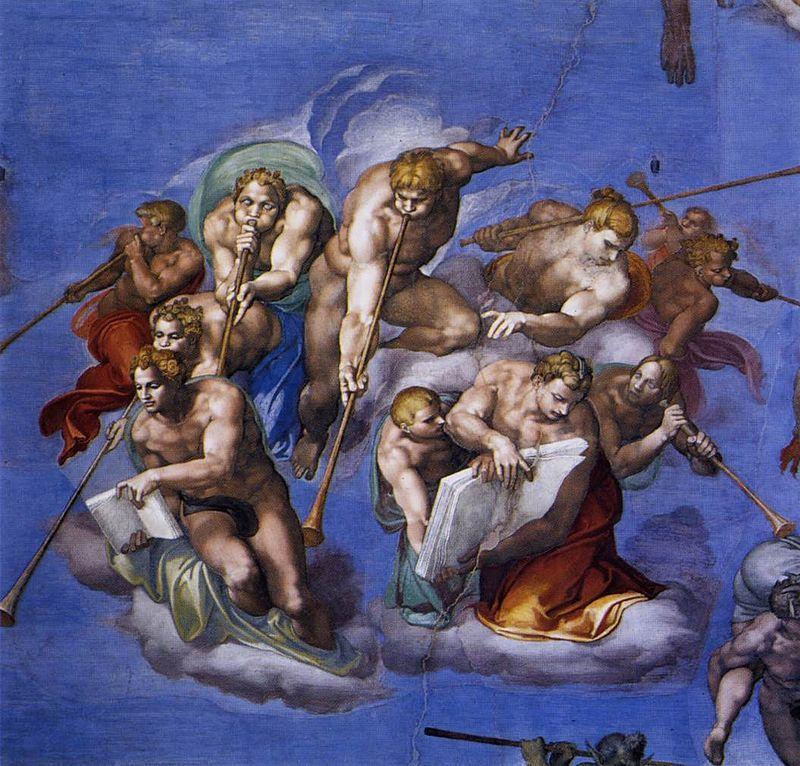 Michelangelo-Giudizio-Universale-Angeli-che-annunciano-la-fine-dei-tempi