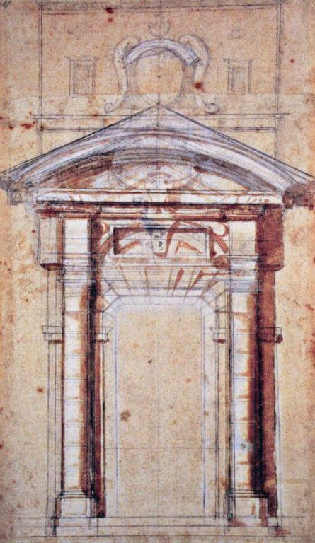 Disegho-di-studio-di-Michelangelo