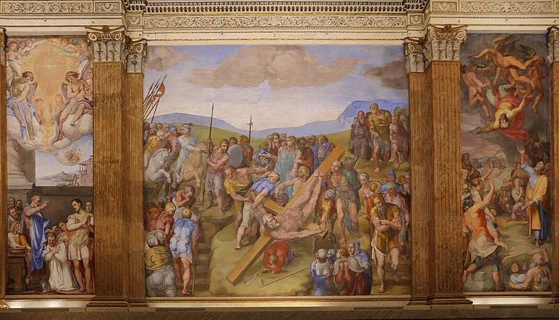 Michelangelo-Crocifissione-San-Pietro-1546-50