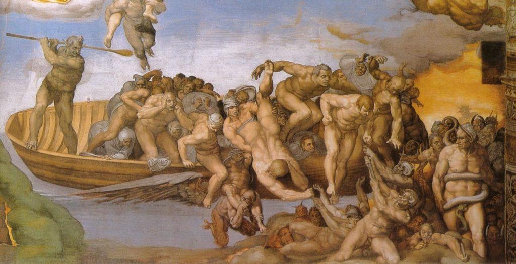 Michelangelo-Giudizio-Universale-dettagli-inferno