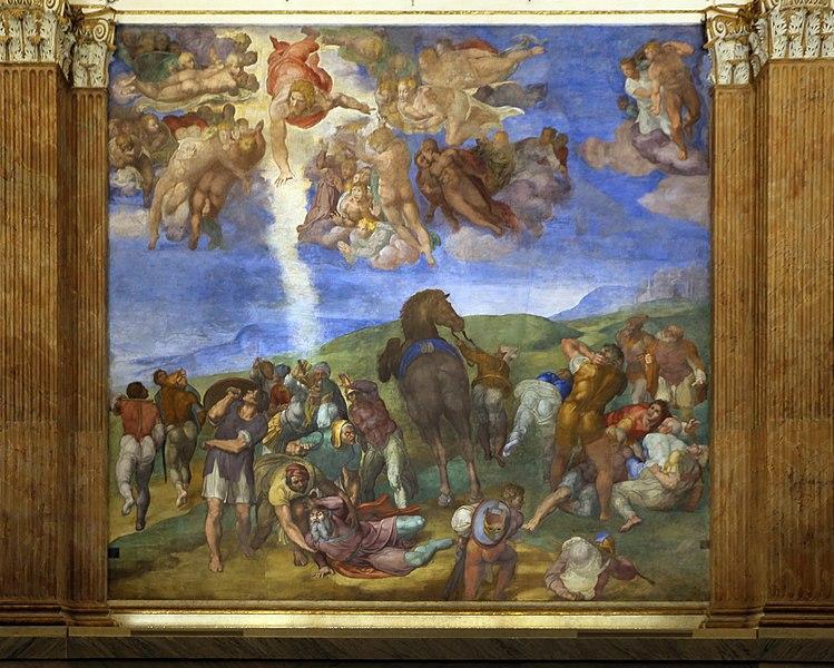 Michelangelo-cappella-Paolina-Conversione-di-Saulo