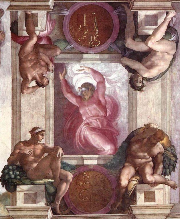Primo-giorno-della-creazione-separazione-luce-dal-buio-Michelangelo