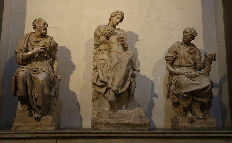 Madonna-con-bambino-Michelangelo-Cappelle-Medicee-Florenz